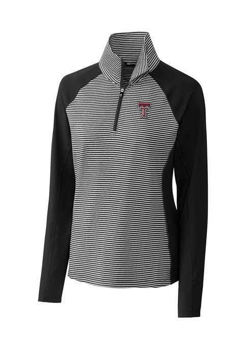 Womens NCAA Texas Tech Red Raiders Forge Tonal Stripe Half Zip Pullover