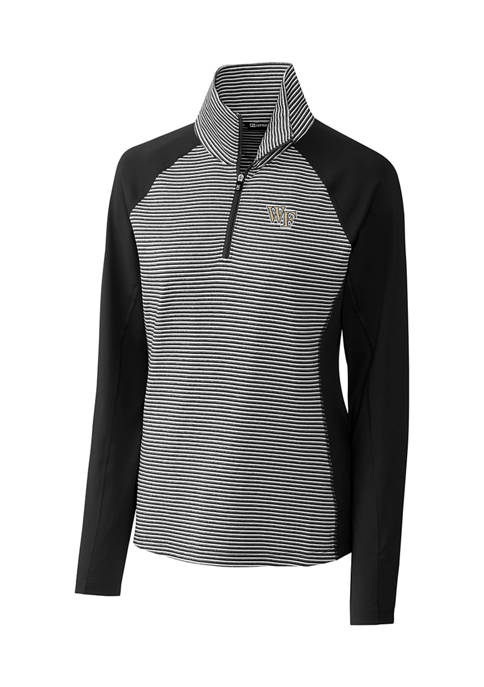 Womens NCAA Wake Forest Demon Deacons Forge Tonal Stripe Half Zip Pullover