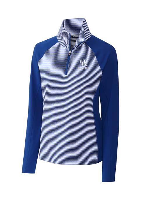 Womens NCAA Kentucky Wildcats Forge Tonal Stripe Half Zip Pullover