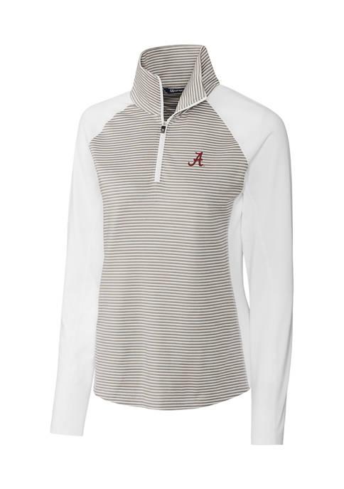 Womens NCAA Alabama Crimson Tide Forge Tonal Stripe Half Zip Pullover