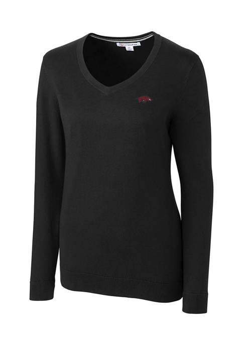 NCAA Arkansas Razorbacks Lakemont V-Neck Sweater