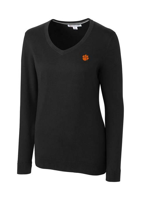 NCAA Clemson Tigers Lakemont V-Neck Sweater