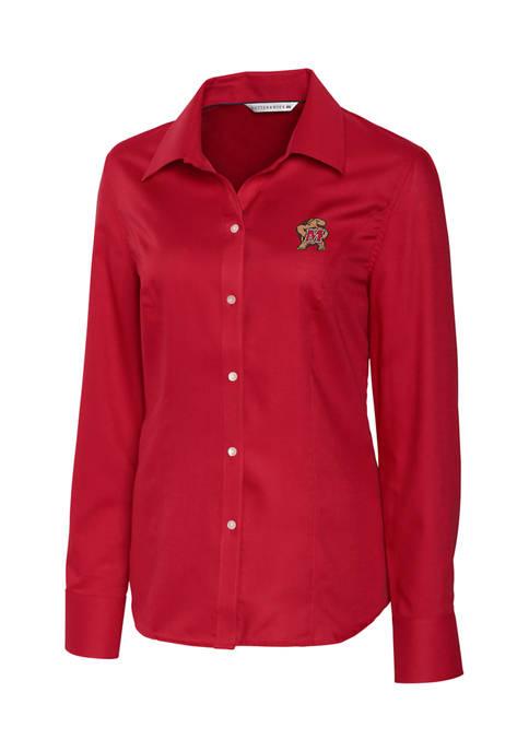 NCAA Maryland Terrapins Long Sleeve Epic Easy Care Nailshead Shirt