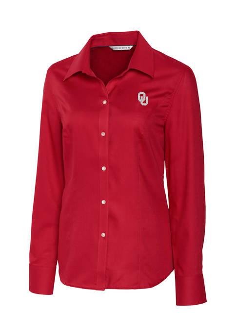 NCAA Oklahoma Sooners Long Sleeve Epic Easy Care Nailshead Shirt