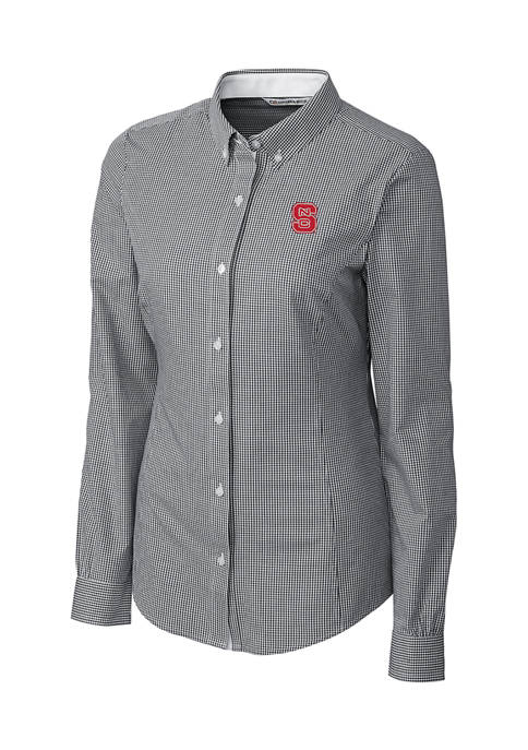 NCAA NC State Wolfpack Long Sleeve Epic Easy Care Gingham Shirt