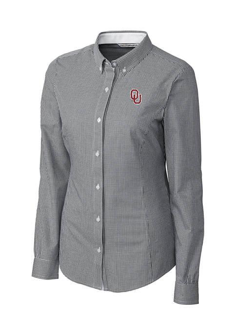 NCAA Oklahoma Sooners Long Sleeve Epic Easy Care Gingham Shirt