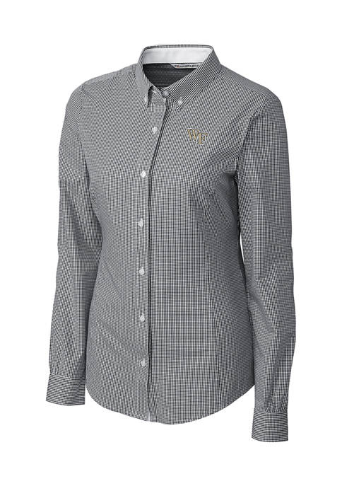 NCAA Wake Forest Demon Deacons Long Sleeve Epic Easy Care Gingham Shirt