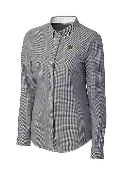 NCAA Vanderbilt Commodores Long Sleeve Epic Easy Care Gingham Shirt