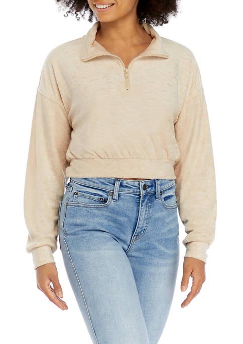 Cloudchaser Juniors Long Sleeve Quarter Zip Pullover