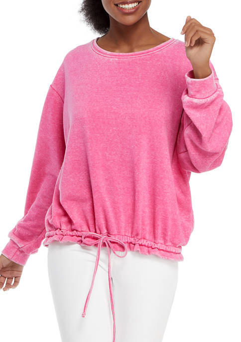 Crown & Ivy™ Womens Long Sleeve Brushed Terry