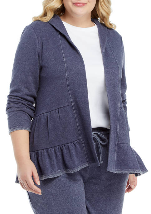 Crown & Ivy™ Plus Size Long Sleeve Brushed
