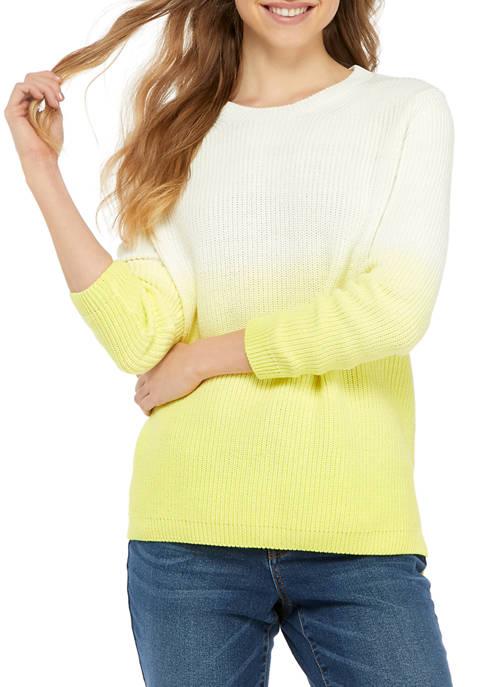 Crown & Ivy™ Womens Long Sleeve Dip Dyed