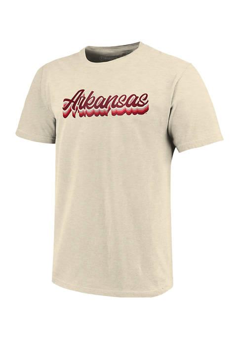 Image One NCAA Arkansas Razorback Tri-Color Script T-Shirt