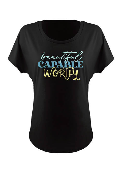 Image One Triple Font Stack Ideal Dolman Graphic