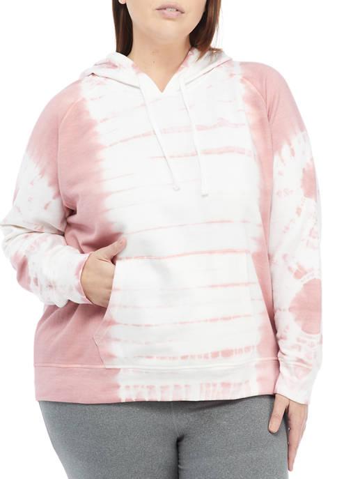 Full Circle Trends Plus Size Tie Dye Raglan