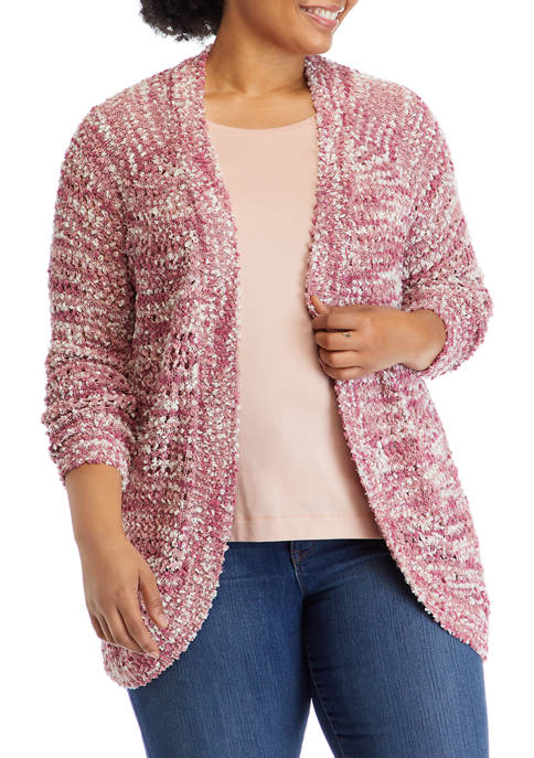 Full Circle Trends Plus Size Long Sleeve Marled