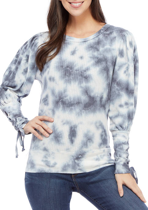 American Rag Womens Thermal Tie Dye Lace Up