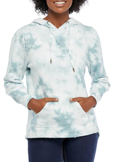 American Rag Womens Tie Dye Hooded Sweatshirt