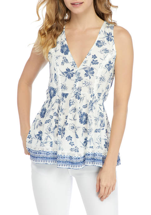 American Rag Racerback Tunic with Lace Insets