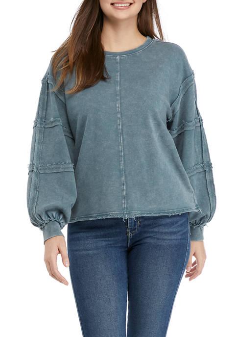 American Rag Womens Raw Seamed Sweatshirt