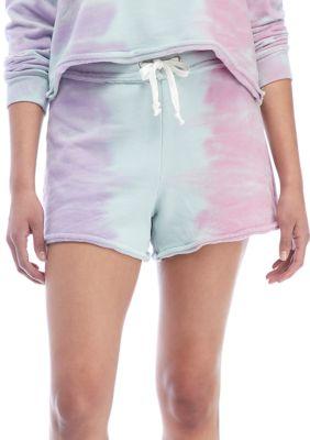 American Rag Womens Tie Dye Pull On Shorts