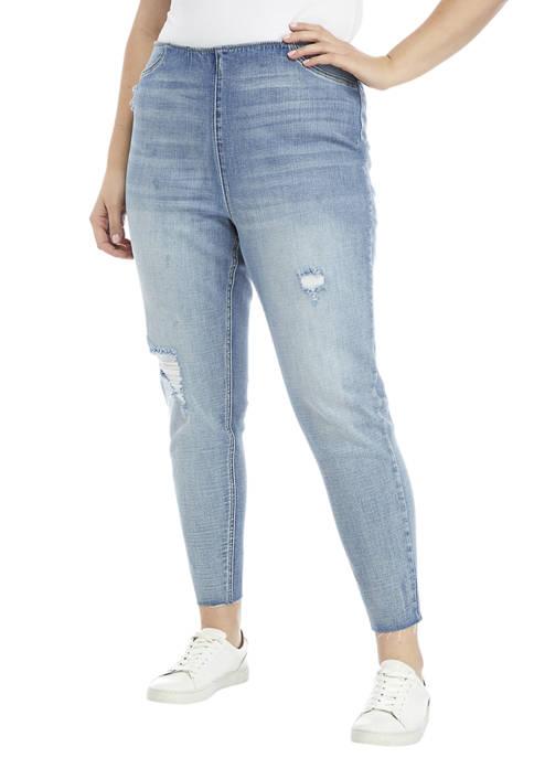 American Rag Plus Size Pull On Skinny Jeans