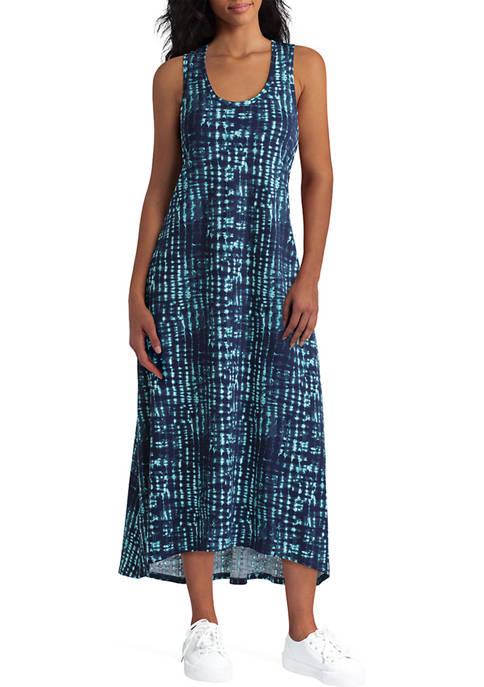 H Halston Studio Womens Sleeveless Organic Cotton Dress