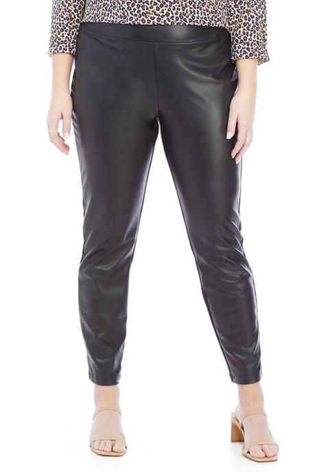 Dex Plus Size Faux Leather Leggings