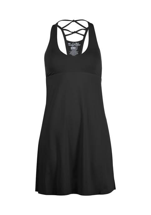 Salt Life Womens Sea Legs Solid Racer Dress