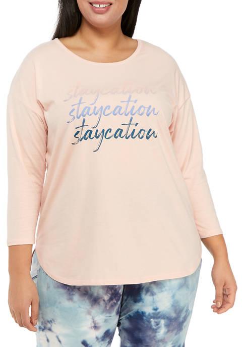 Studio Plus Size Staycation T-Shirt