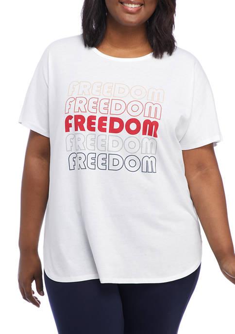 New Directions® Studio Plus Size Dolman Sleeve Freedom