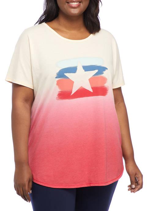 New Directions® Studio Plus Size Dip Dye Star