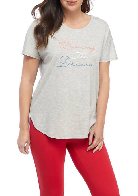Studio Womens Short Sleeve The Dream Graphic T-Shirt