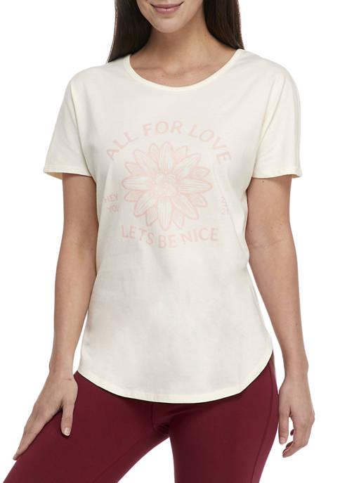 Studio Womens Dolman Sleeve Graphic T-Shirt
