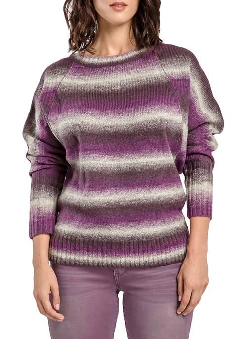 Miss Halladay Womens Stripe Sweater