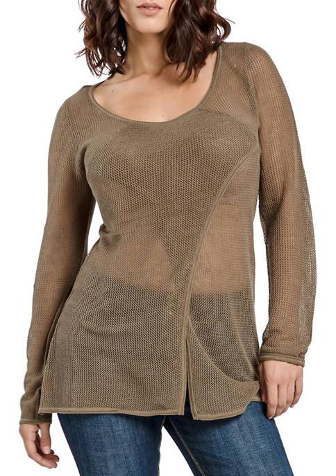 Mesh Sweater Tunic