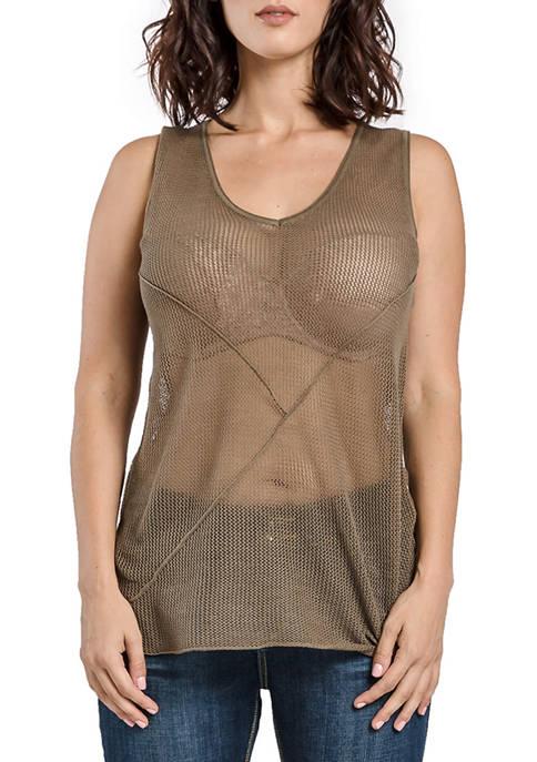 Miss Halladay Mesh Sweater Tank