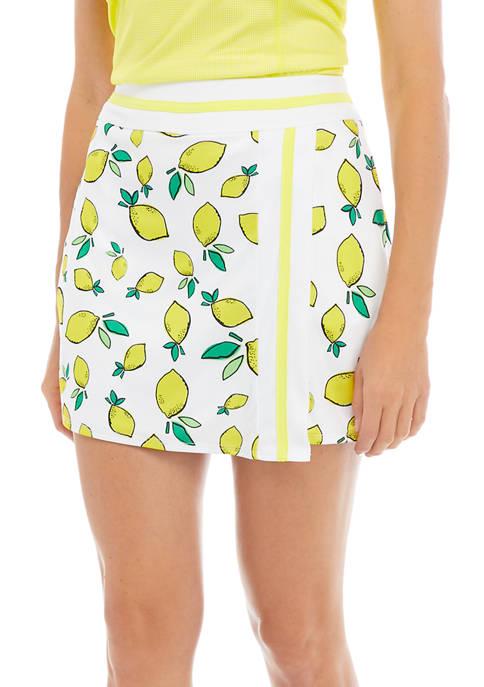 Womens Lemon Print Skort