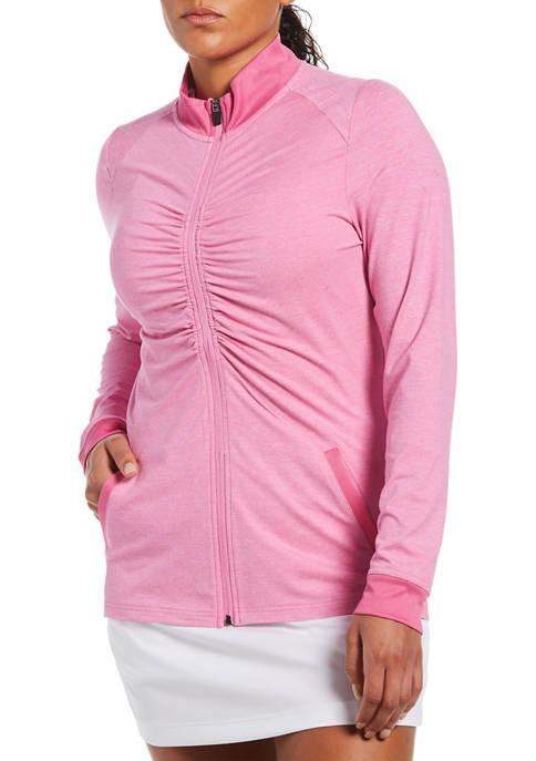 PGA TOUR LADIES Long Sleeve Jacket with Shirring