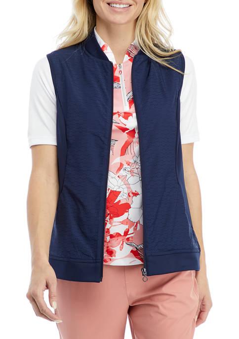 Womens Sleeveless Perforated Vest