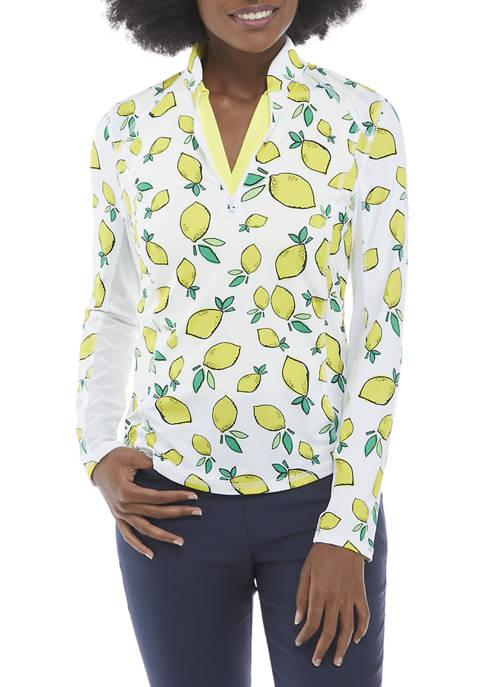 Long Sleeve Lemon Printed Shirt