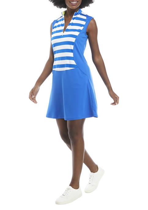 PGA TOUR LADIES Sleeveless Color Block Dress