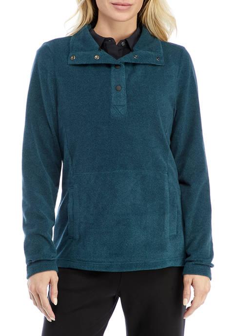 HI-TEC® Charlevoix Stripe Fleece Half Snap Jacket