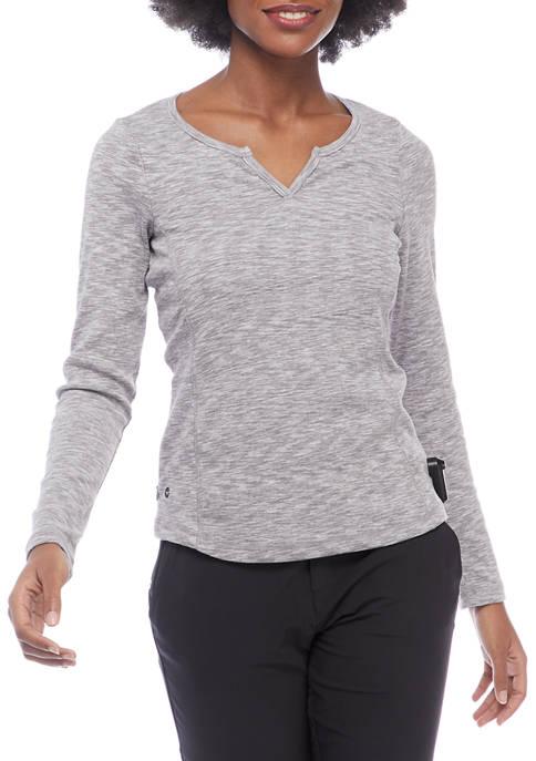 HI-TEC® Long Sleeve Space Dye Rib Knit T-Shirt