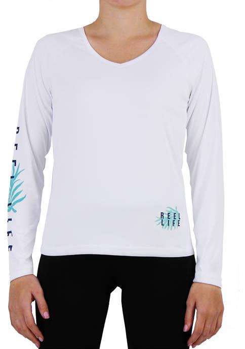 Reel Life Pretty Palms Long Sleeve Performance T-Shirt