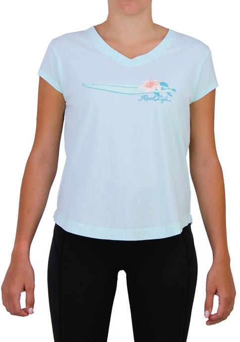 Reel Life Womens Short Sleeve Mahalo T-Shirt