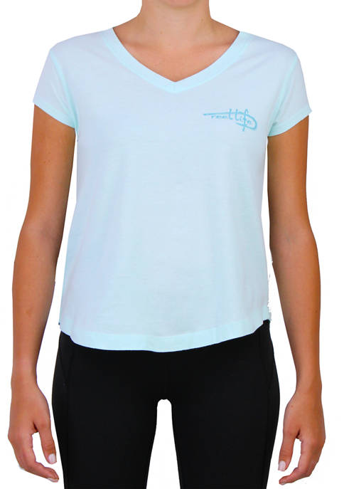 Reel Life Womens Short Sleeve Shore Thing Graphic