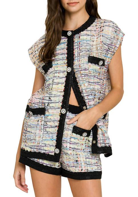 Grey Lab Oversized Button-Embellished Vest