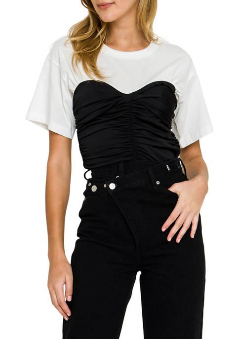 Womens Contrast Color T-Shirt