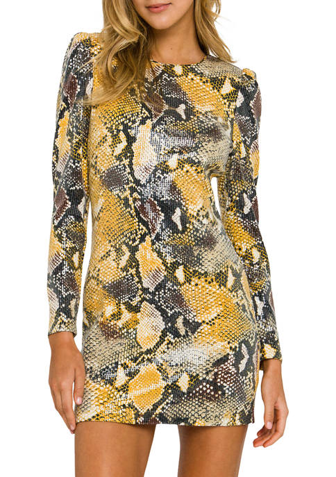 Python Sequin Mini Dress